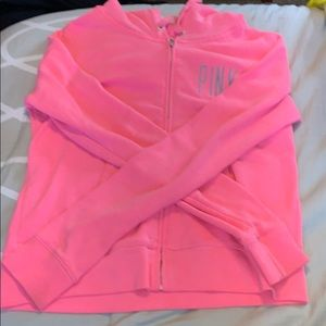 victoria secret pink zip up